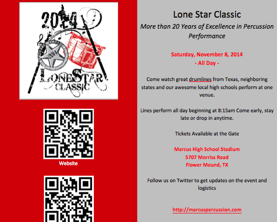 2014 Lonestar Classic: HS Percussion Competition